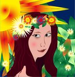 härligt flickavektorbarn royaltyfri illustrationer