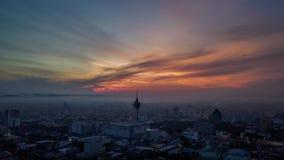 Härligt flyg- landskap av Alor Setar Malaysia Den mest berömda Alor Setar Tower i Malaysia arkivfoto