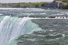 Härligt foto av den fantastiska Niagara Falls kanadensaresidan Royaltyfria Foton