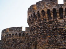 Härligt foto av två torn Arkivbilder