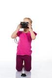 härligt fotografera för flicka arkivbild