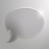 Härligt glass moln för pratstund eller advertizing, st Arkivbilder