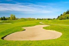 härligt golfställe Arkivbilder