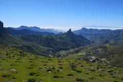 Härligt Gran Canaria berglandskap Kanariefågelö, Spanien Arkivbild