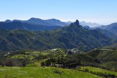 Härligt Gran Canaria berglandskap Kanariefågelö, Spanien Arkivbilder