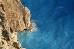 härligt greece ionian hav zakynthos Arkivbilder