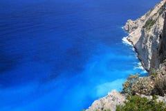 härligt greece ionian hav zakynthos Fotografering för Bildbyråer