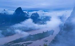Härligt Guilin landskap Royaltyfri Foto