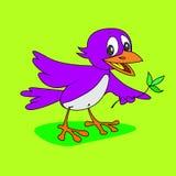 Härlig gullig fågel vektor illustrationer