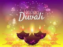Härligt hälsningkort för den hinduiska gemenskapfestivalen Diwali/lycklig illustration/Diwali för Diwali festivalbakgrund Royaltyfria Bilder