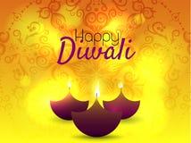 Härligt hälsningkort för den hinduiska gemenskapfestivalen Diwali/lycklig illustration/Diwali för Diwali festivalbakgrund Royaltyfria Foton