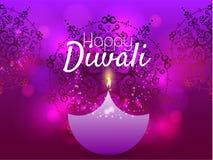 Härligt hälsningkort för den hinduiska gemenskapfestivalen Diwali/lycklig illustration/Diwali för Diwali festivalbakgrund Arkivfoton