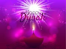 Härligt hälsningkort för den hinduiska gemenskapfestivalen Diwali/lycklig illustration/Diwali för Diwali festivalbakgrund Arkivfoto