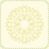 Härligt hälsningkort med den blom- kransen Den ljusa illustrationen, kan användas som att skapa kortet, inbjudankortet för Arkivbilder