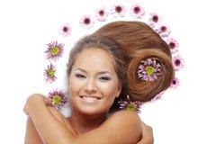 härligt hår Arkivfoton