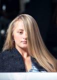härligt hår long royaltyfri foto
