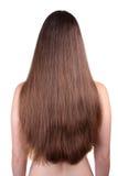 härligt hår long arkivbilder
