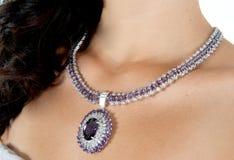 härligt halsband Royaltyfri Fotografi
