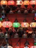 Härligt hantverk i handcrafted lampor Royaltyfri Bild