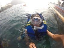 Härligt hav Arkivfoton