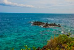 Härligt hav Apo Filippinerna, beskådar uppifrån Royaltyfria Foton