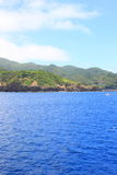 Härligt hav av den Chichijima ön arkivbild