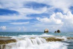 Härligt hav och hav Arkivbilder
