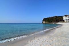 Härligt hav och Wakayama Japan fotografering för bildbyråer