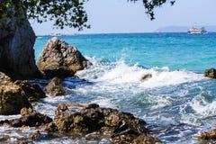 Härligt hav på Thailand Royaltyfri Foto