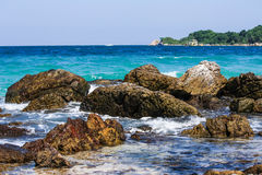 Härligt hav på Thailand Royaltyfri Bild