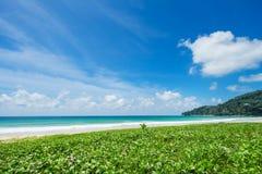 Härligt hav strandkaron phuket thailand fotografering för bildbyråer