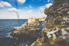 Härligt havslandskap av havet Royaltyfri Foto