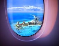 härligt havssiktsfönster Royaltyfria Foton