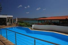 Härligt hotell i Kreta Arkivbild