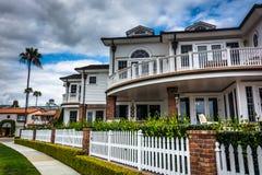 Härligt hus i Corona del Mar Royaltyfri Foto