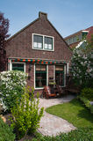 Härligt hus i Holland Arkivfoto