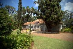 Härligt hus i Kenya Arkivbild