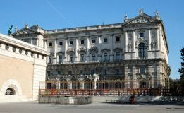 Härligt hus i staden Arkitektur Wien Österrike 10 10 2017 arkivfoto