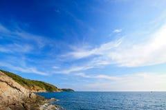 Härligt i den blåa ön fotografering för bildbyråer