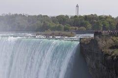 Härligt isolerat foto av det fantastiska Niagaraet Falls från kanadensisk sida Arkivbilder