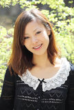härligt japanskt kvinnabarn Arkivbilder
