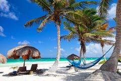 härligt karibiskt för strand Royaltyfria Bilder