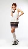 härligt kinesiskt lyxigt posera kvinnabarn Royaltyfri Bild
