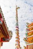 härligt kinesiskt relikskrintempel Royaltyfria Bilder