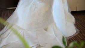 härligt klänningbröllop arkivfilmer