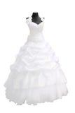 härligt klänningbröllop Arkivfoton