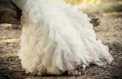 härligt klänningbröllop Royaltyfri Bild