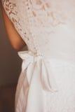 härligt klänningbröllop Royaltyfria Bilder