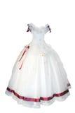 härligt klänningbröllop Fotografering för Bildbyråer