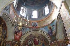 härligt kyrkligt ortodoxt Arkivbilder